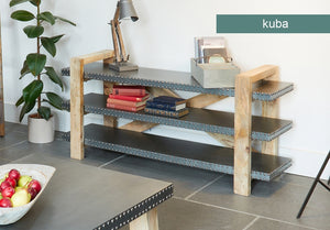 Baumhaus Kuba Low Bookcase / Sideboard - Wall Shelves Direct
