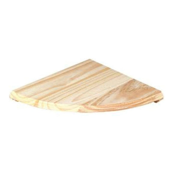 Core Products Natural Wood 380x380mm Corner Shelf Kit - Wall Shelves Direct