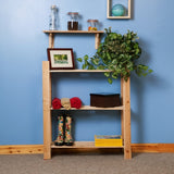 Core Products Natural Wood 900x800mm 3 Tier Shelf Unit - Wall Shelves Direct