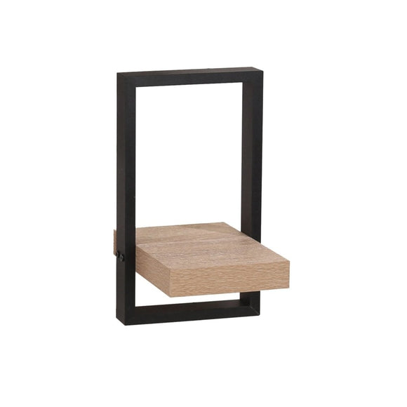 Core Products Nova Oak & Black Small Shelf Kit - Wall Shelves Direct