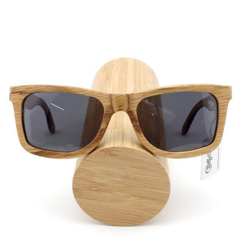 Image of Fashion-forward Unisex Bamboo Polarized Sunglasses With Handcrafted Wooden Gift Box