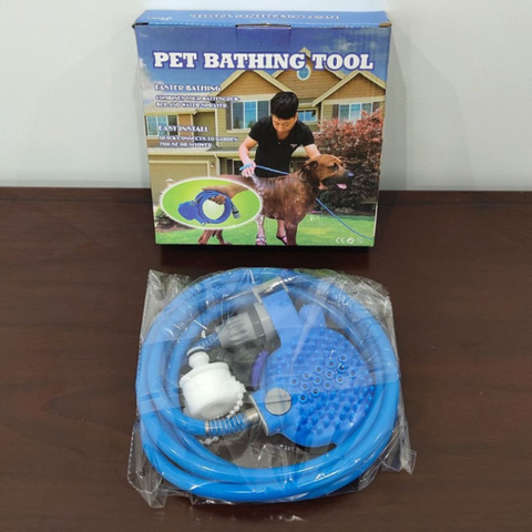 Image of Jolly Pet 2in1 Portable Bath Tool - Sprayer & Scrubber for Dogs, Cats & More