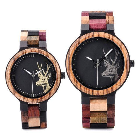 You & Me Engravable Wooden Wristwatch Set