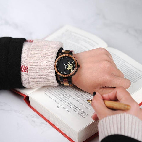 Image of You & Me Engravable Wooden Wristwatch Set