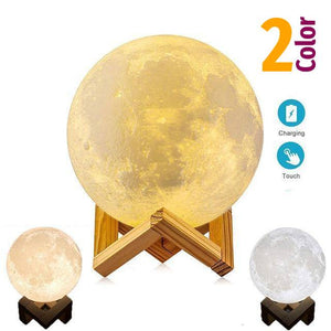 16/2 Color Restful Sleep / Romantic Moon Lamp. A perfect gift for the whole family.