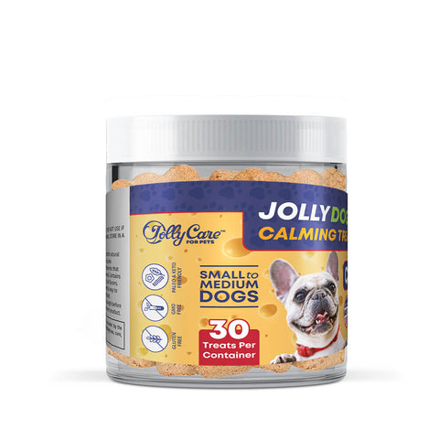Jolly Dog's™ Calming Treats - Cheddar Flavored - Small to Medium Dogs
