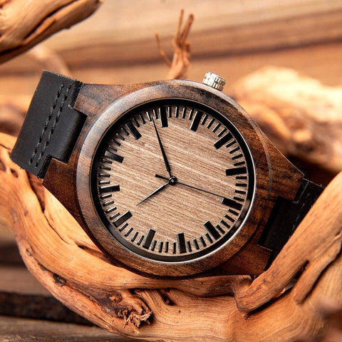 Image of Special Wooden Handmade Customized Personal Gift Watch For Men