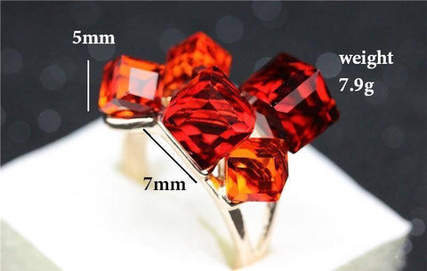 Image of Fashion-forward Cubic Ladies Crystal Ring