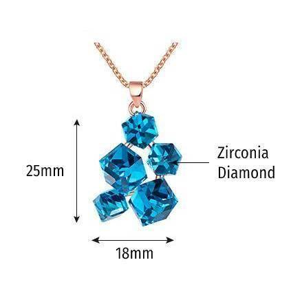 Image of Special Fashion-forward Cubic Ladies Necklace