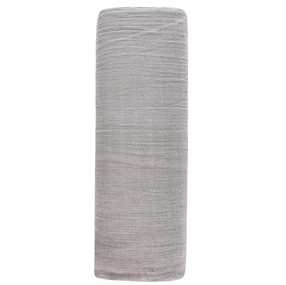 Ely's & Co Cotton Muslin Swaddle Blanket -Silver Grey