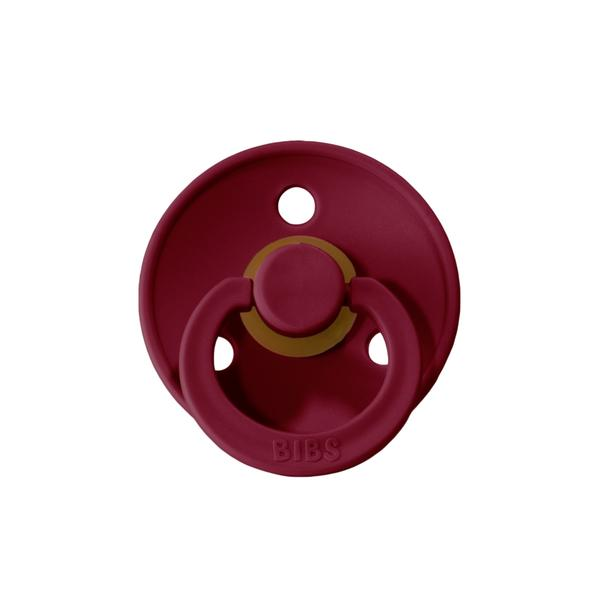 Mushie Bibs Pacifier Ruby