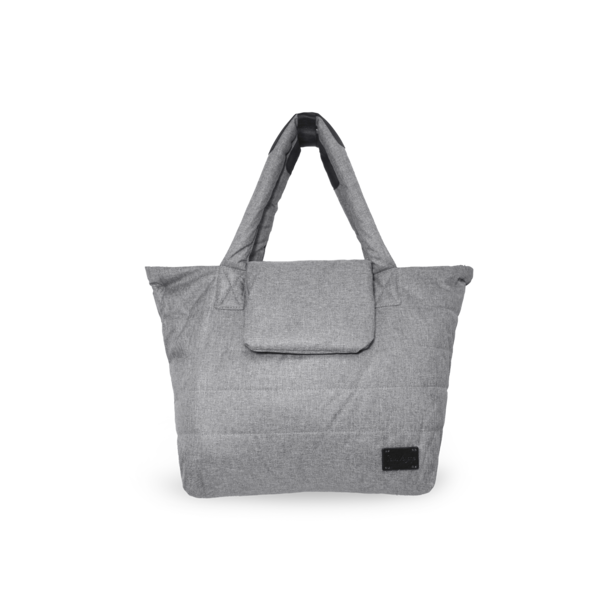 7AM Capri Diaper Bag Heather Grey