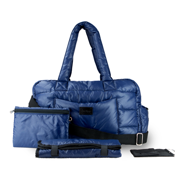 7AM SoHo Classic Satchel Navy