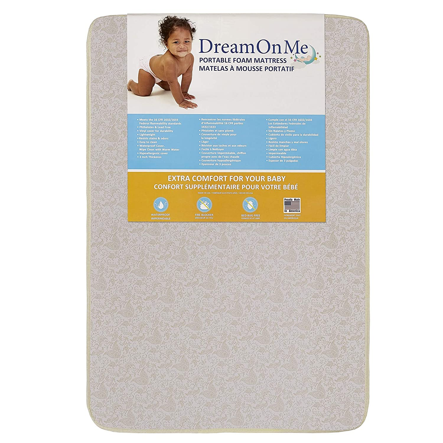 "Dream On Me, 3"" Foam Pack and Play Mattress"