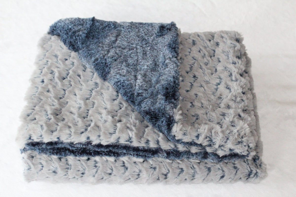Zandino Ainsley Chambray Plush Baby Blanket