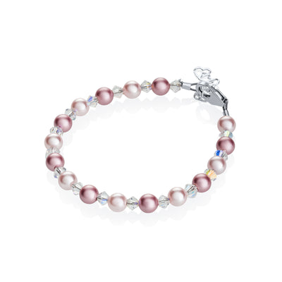 Crystal Dream Rose and Pink Pearl Bracelet