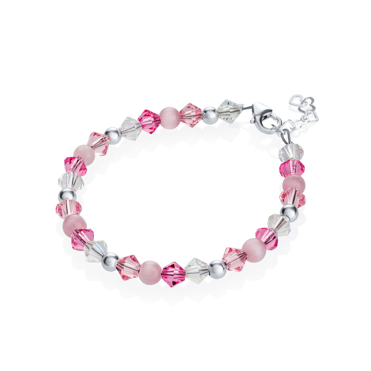 Crystal Dream Pink Crystals and Beads Bracelet