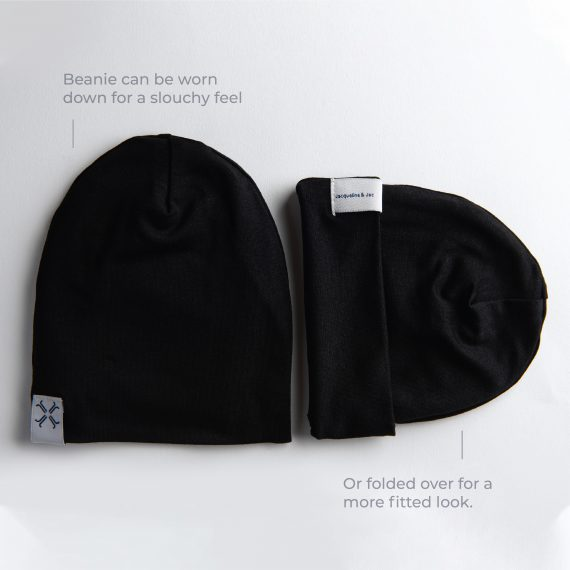 Jacqueline & Jac Black Beanie-Infant