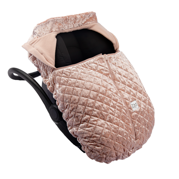 7AM Car Seat Cocoon Velvet Quilted