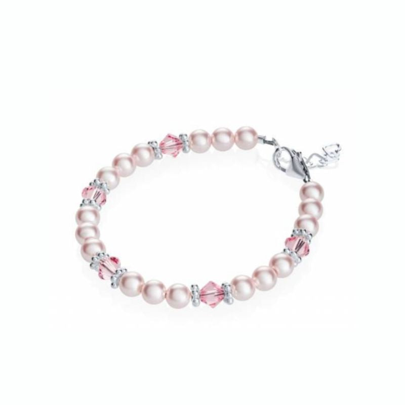 Swarovski Pink Pearls and Crystals Bracelet