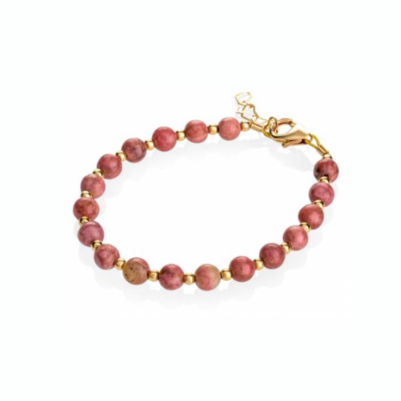 Rose and Gold Beads Bracelet