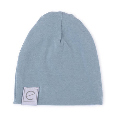 Ely's & Co Jersey Cotton Beanie Hat - Dusty Blue