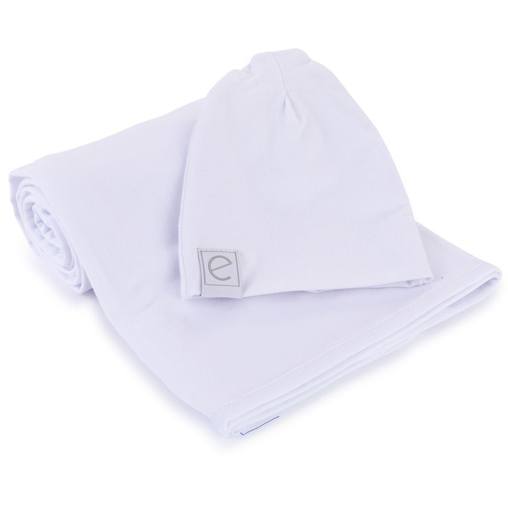 Ely's & Co Jersey Cotton Beanie Hat - White