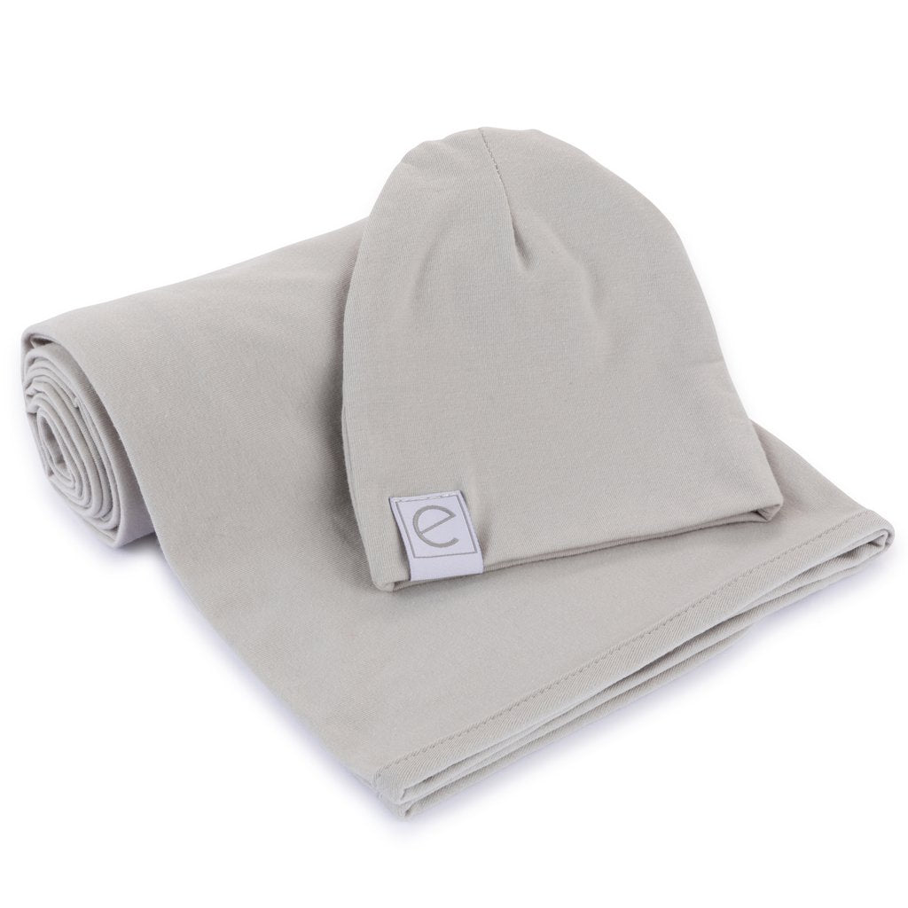 Ely's & Co Jersey Cotton Beanie Hat - Grey