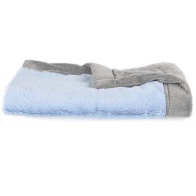 Saranoni Light Blue Gray Lush Receiving Blanket