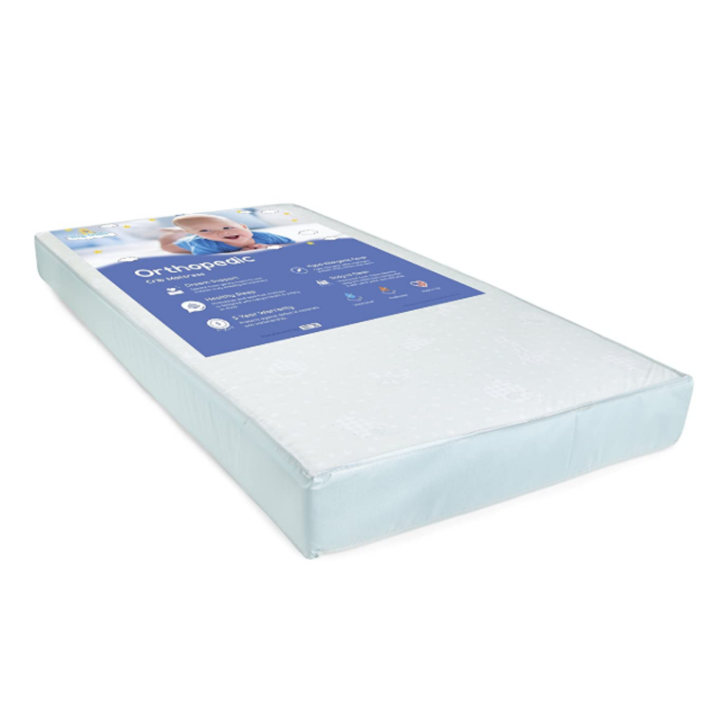 "Baby Foam Crib  Mattress 5"" Thick - Waterproof Cover"