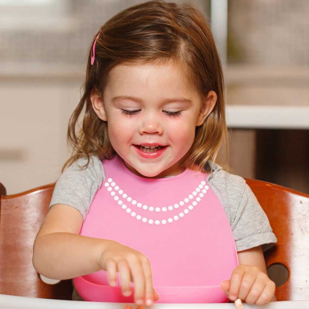Make My Day Breakfast at Moms Bib - Pink