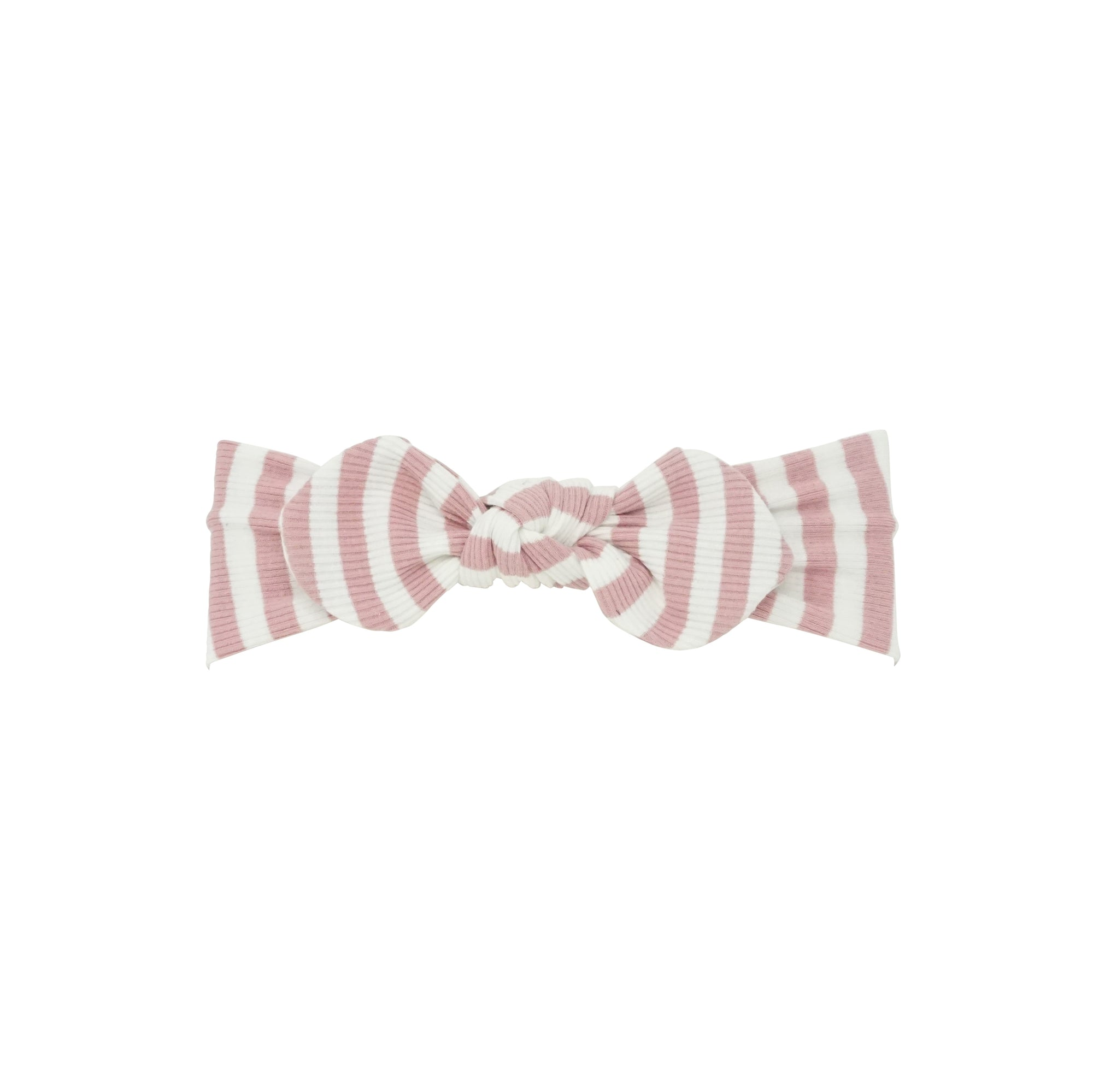 Bandeau Mauve Stripe Ribbed Striped Baby Band