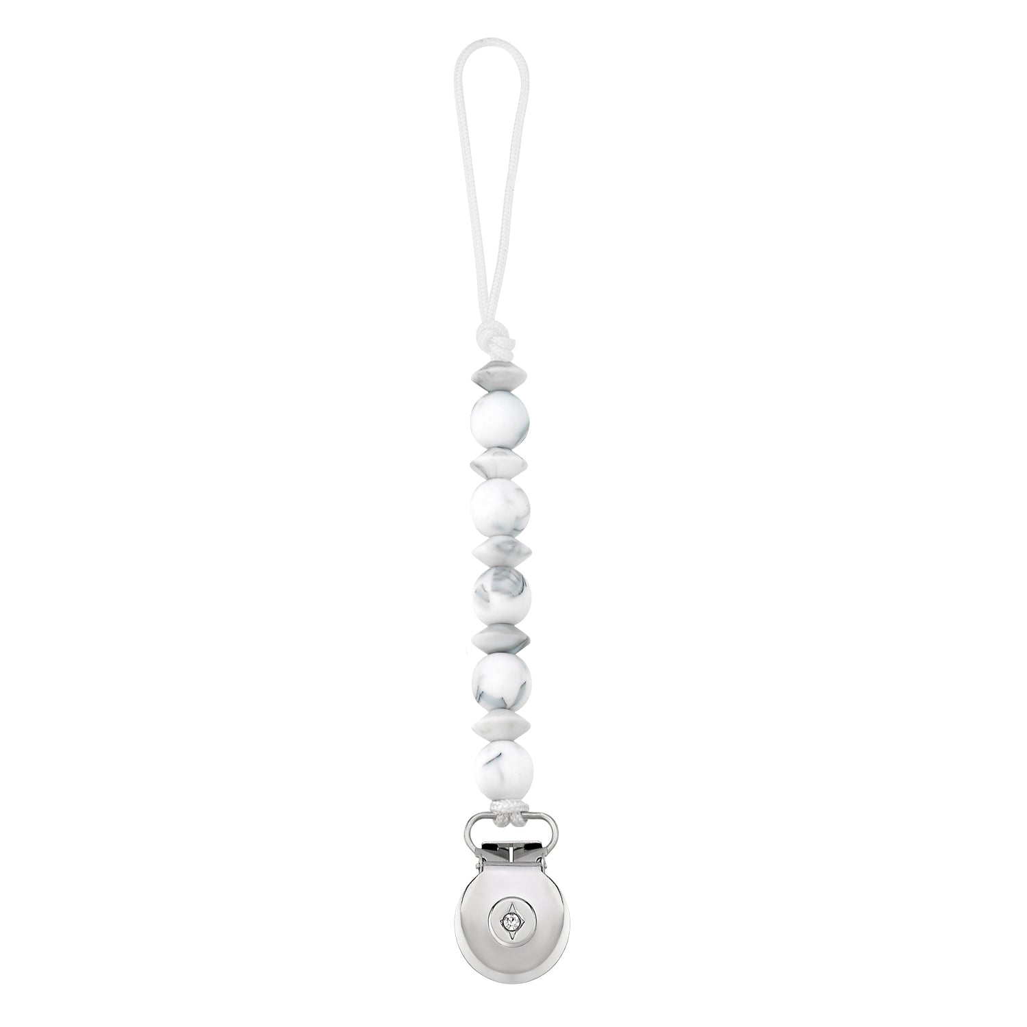 Crystal Dream Marble Solid Pacifier Clip