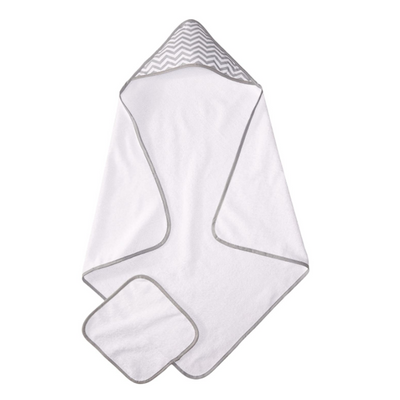 Terry Hooded Towel Set Made with Organic Cotton