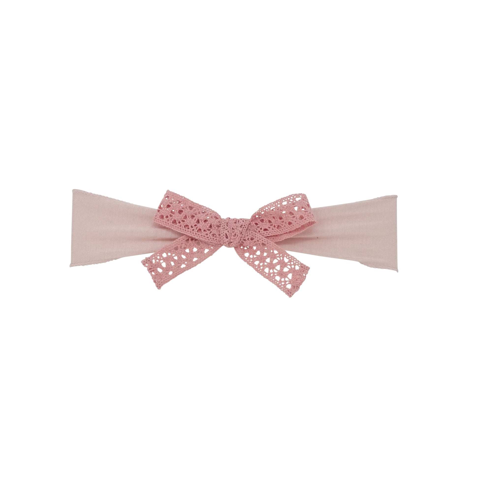 Bandeau Vintage Pink Vintage Lace Bow Baby Band