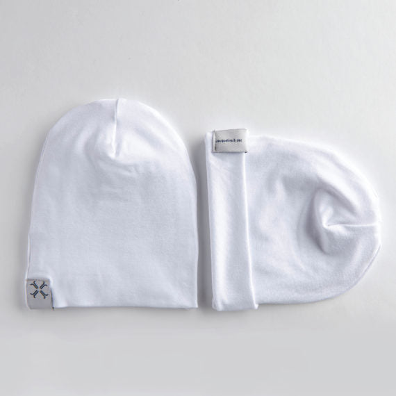 Jacqueline & Jac Infant Beanies White