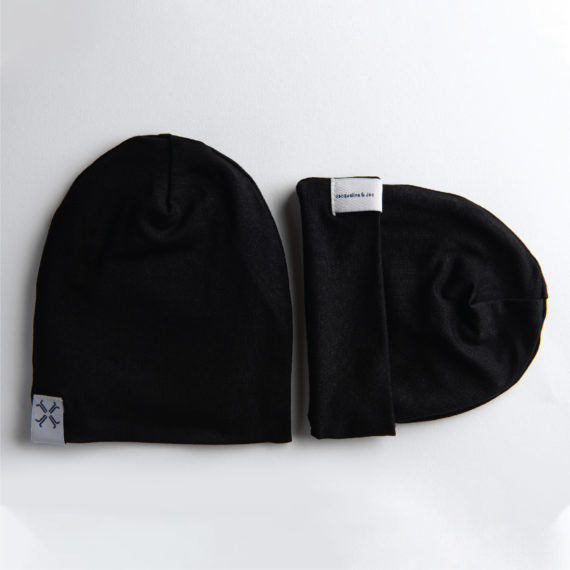 Jacqueline & Jac Infant Beanies Black