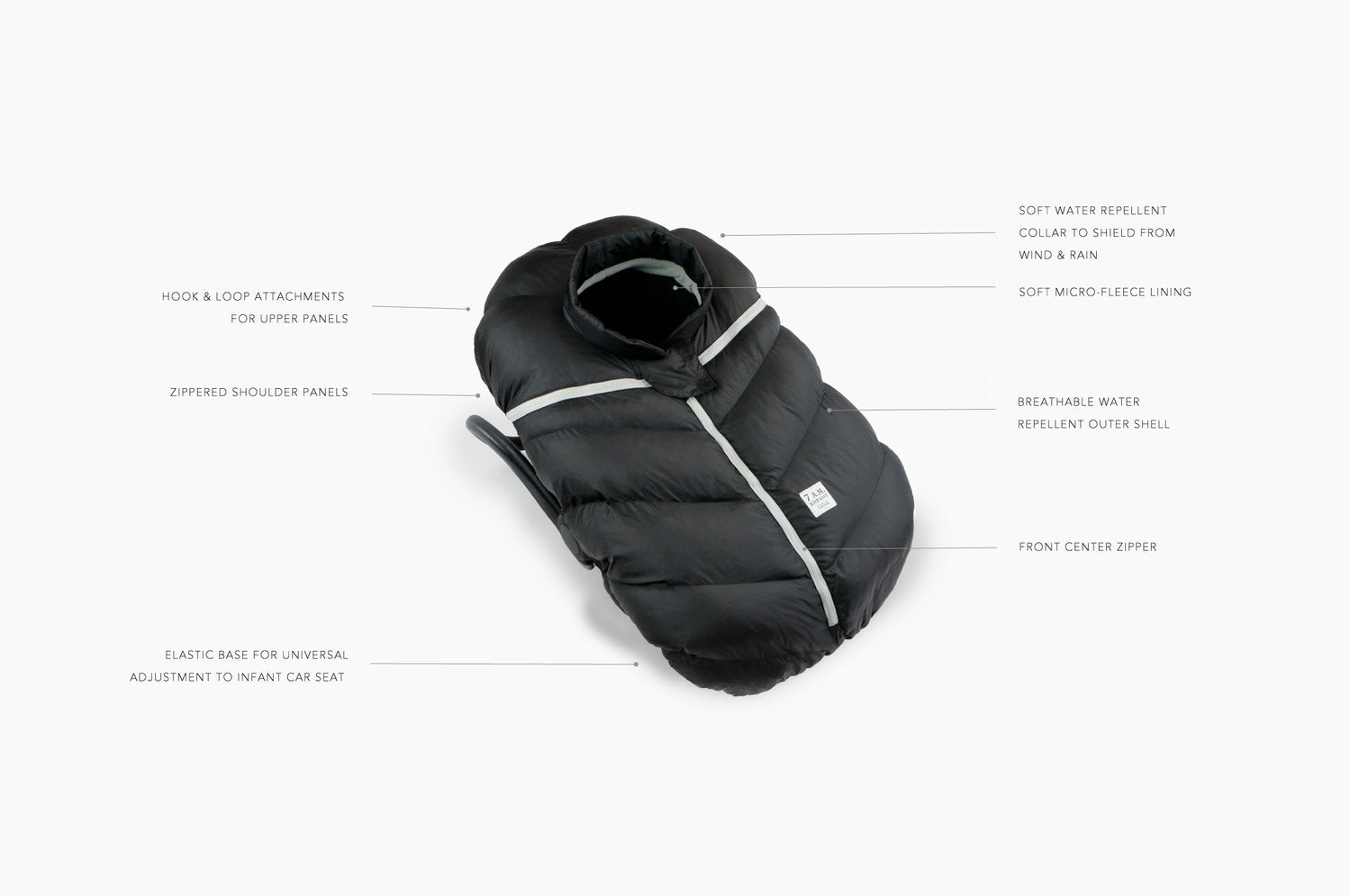 7AM Car Seat Cocoon Black