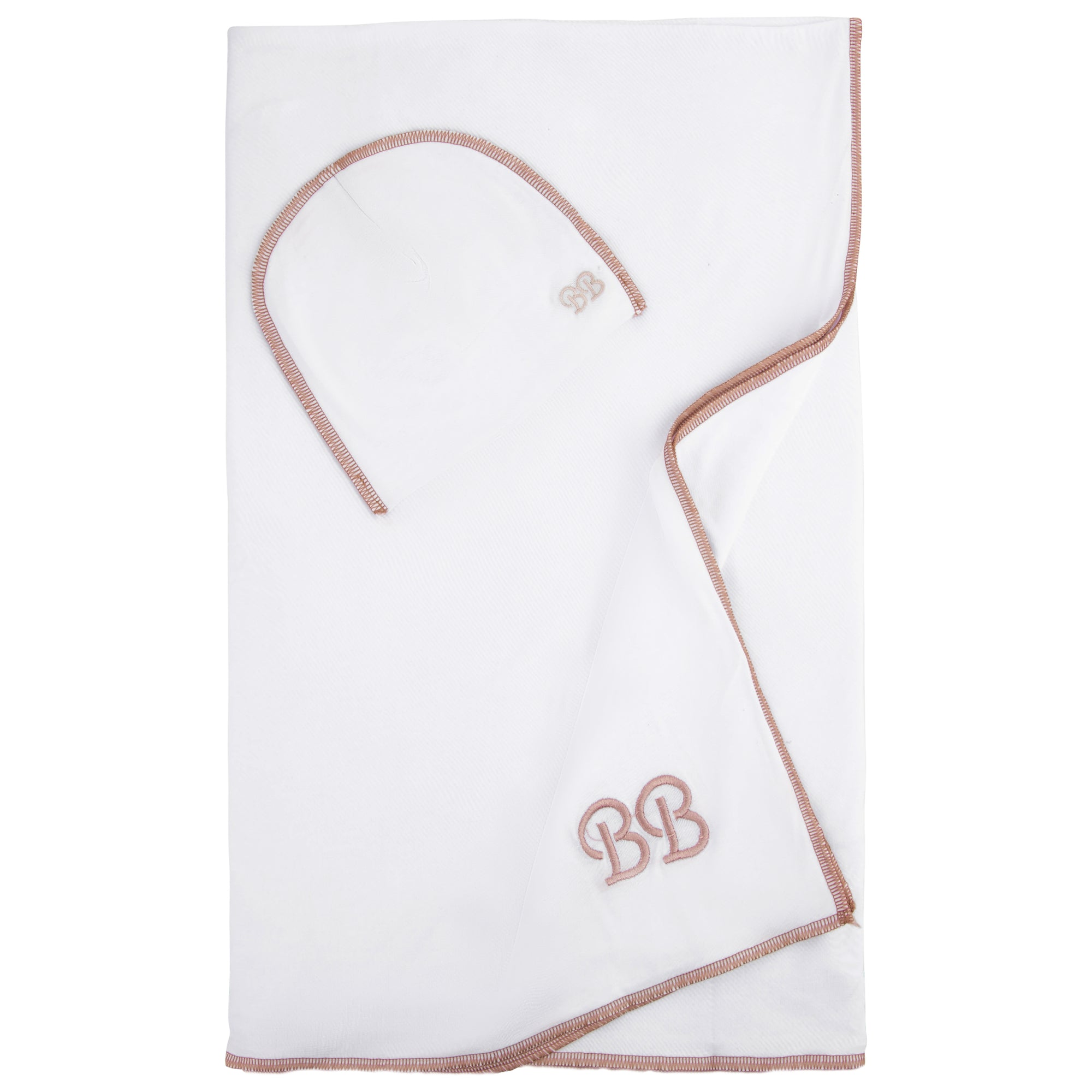Bandeau Rose Gold Stitch Swaddle Set