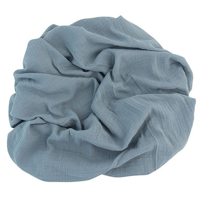 Ely's & Co Cotton Muslin Swaddle Blanket -Ocean Blue