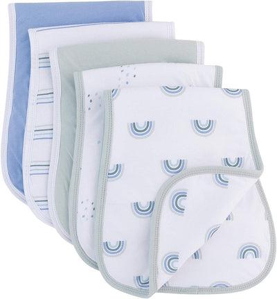 Ely's & Co Reversible Burp Cloths Blue Rainbow Collection
