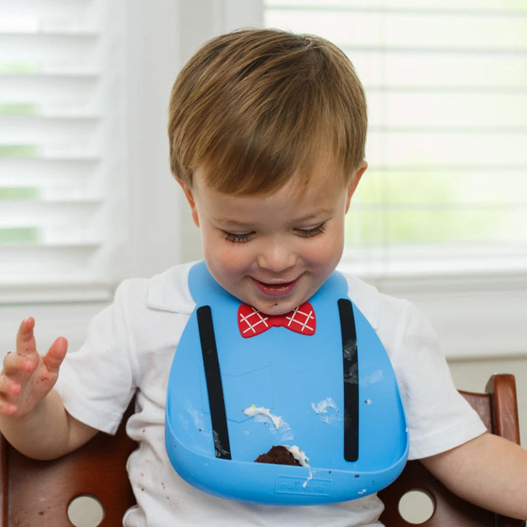 Make My Day Little Genius Bib - Blue