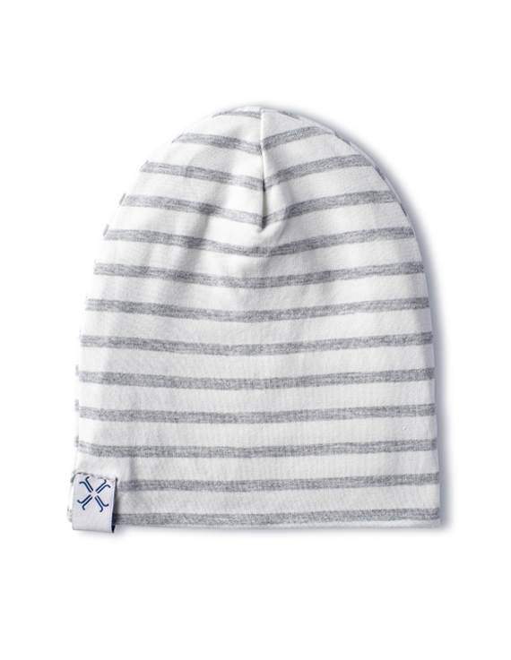 Jacqueline & Jac Gray Striped Beanie