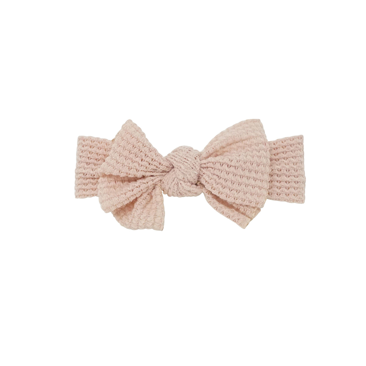 Bandeau Blush Chunky Woven Floppy Bow Baby Band