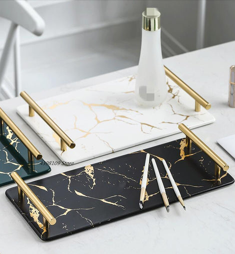 Marble Snack Tray