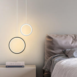 Minimalist Halo Bedside Pendant Light