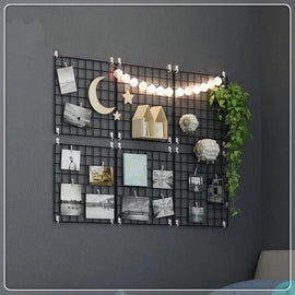Iron Grid Wall Organizer