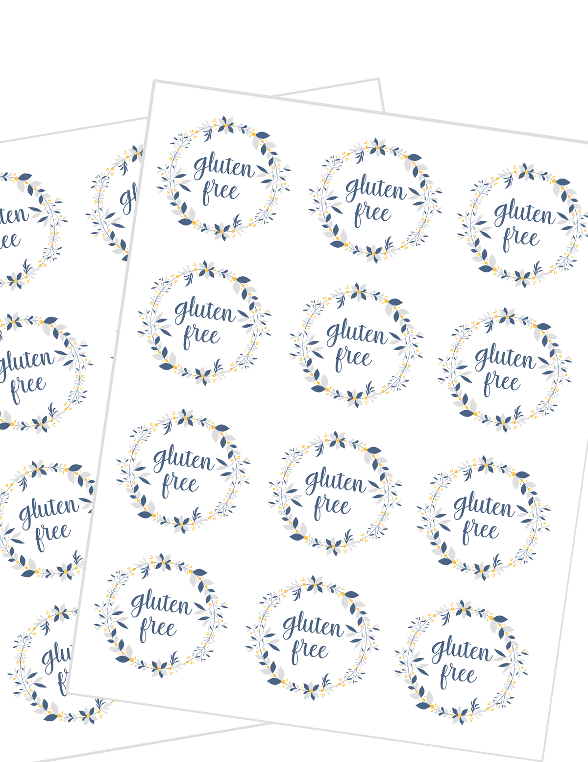Gluten Free Label Stickers {Printable Digital Download}