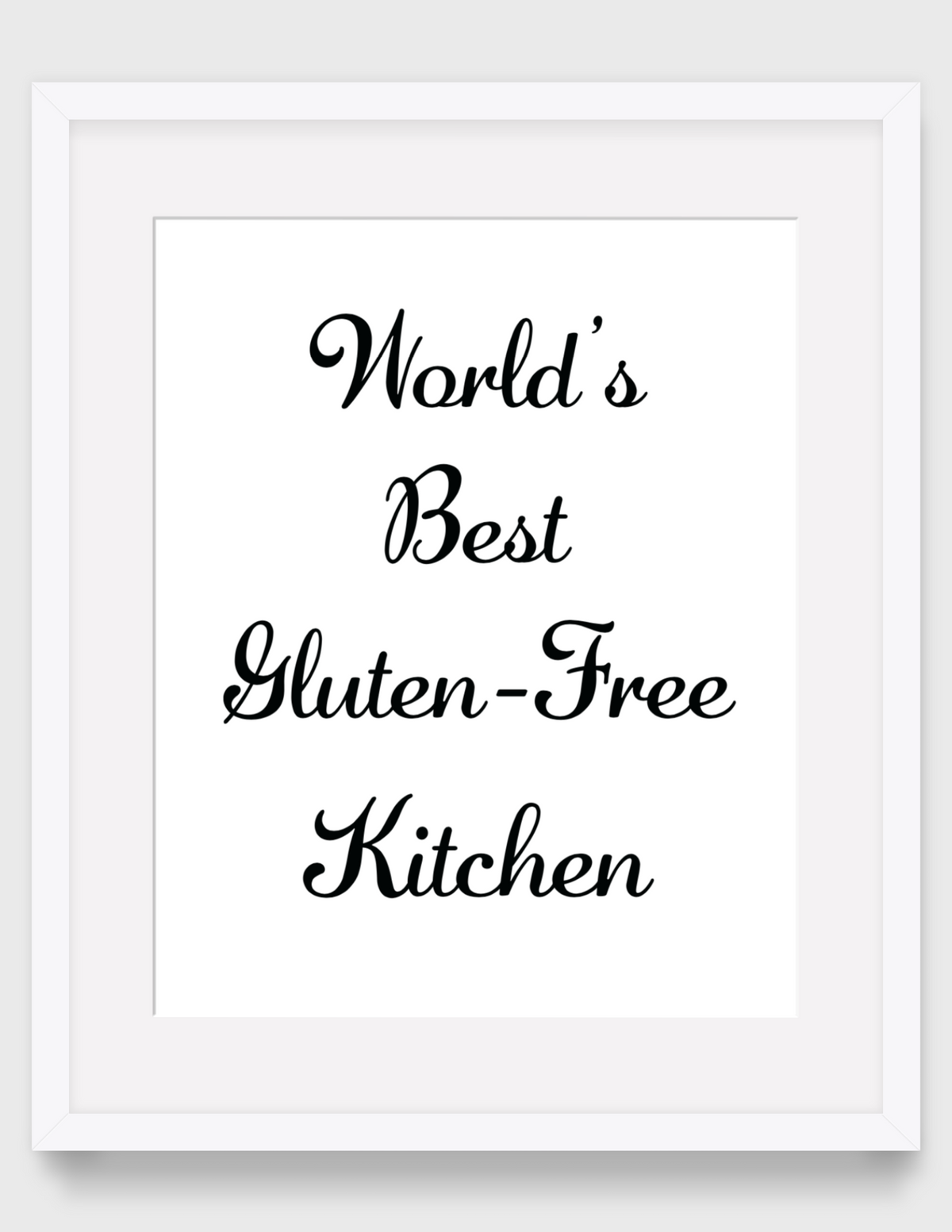 Gluten Free Printable Kitchen Art (Printable Digital Art}