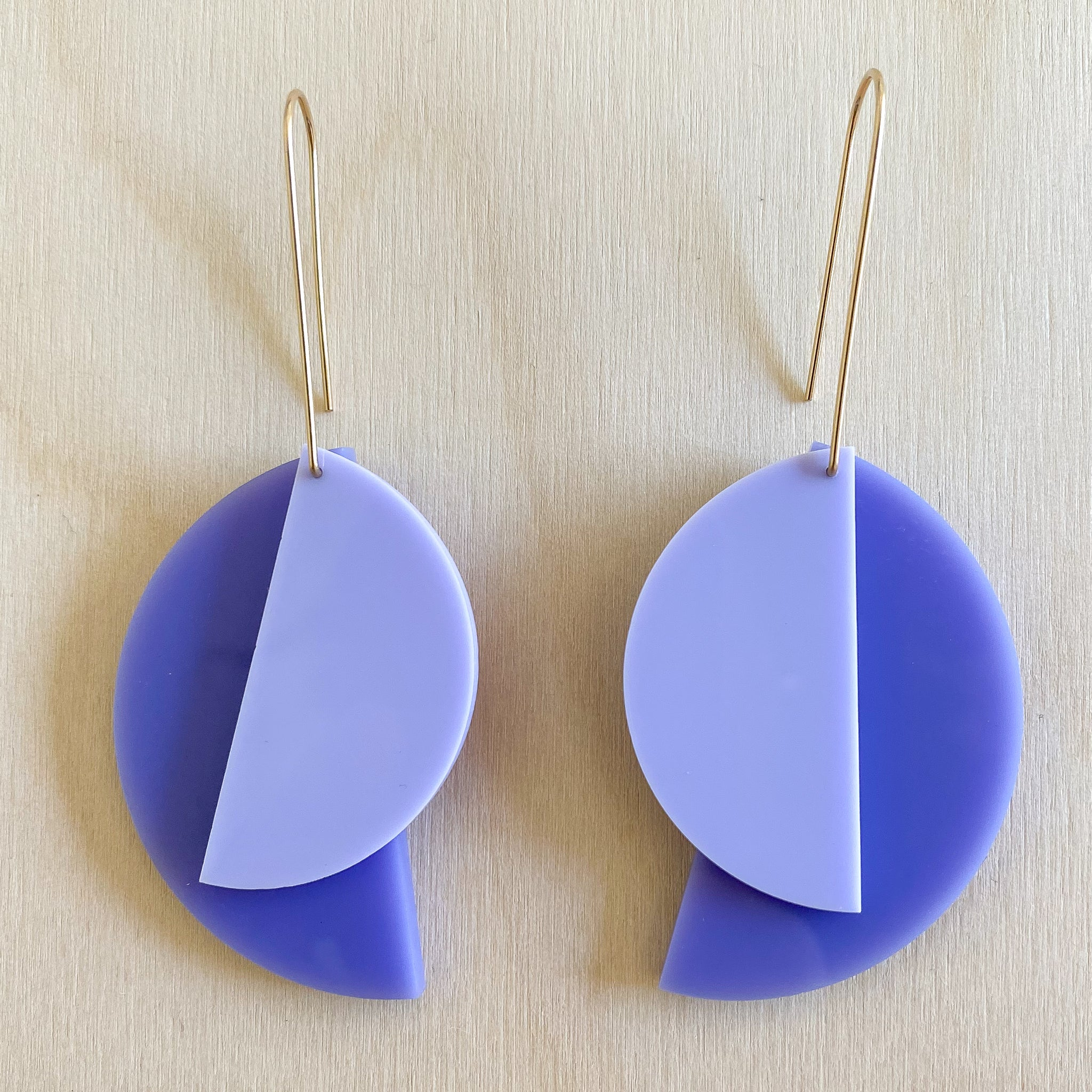 1:1 Earrings – True Purple + Violet